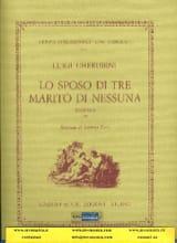 Luigi Cherubini - Lo sposo di tre marito di nessuna, Sinfonia - Partition - di-arezzo.fr
