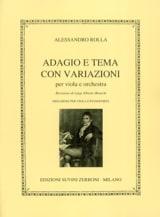 Alessandro Rolla - Adagio and tema con variazioni - Sheet Music - di-arezzo.co.uk