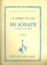 de Gant Jean Baptiste Loeillet - Sei Sonate - 2 Fl. \u200b\u200bA Beak - Sheet Music - di-arezzo.co.uk