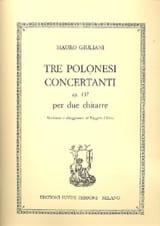 Mauro Giuliani - 3 Polonesi concertanti, op. 137 – 2 Chitarre - Partition - di-arezzo.fr