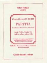 Partita -Conducteur + parties Claude-Henry Joubert laflutedepan.com