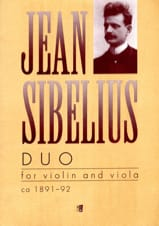 Jean Sibelius - Duo - Violin and viola - Partition - di-arezzo.fr