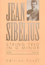 Jean Sibelius - String Trio G minor – Score - Partition - di-arezzo.fr