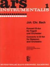 Johann Christian Bach - Konzert B-Dur -Fagott Klavier - Partition - di-arezzo.fr