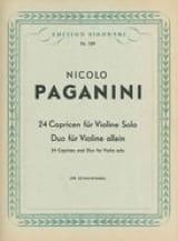 Niccolò Paganini - 24 Capricen und Duo für Violine - Partitura - di-arezzo.es