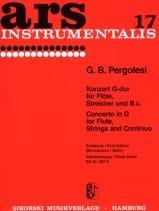 Konzert G-Dur - Flöte Klavier PERGOLESE Partition laflutedepan