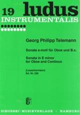 Georg Philipp Telemann - Sonate e-moll für Oboe und Bc - Partition - di-arezzo.fr