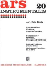 Konzert F-Dur - Oboe Klavier BACH Partition laflutedepan.com