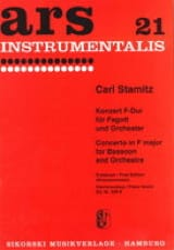 Carl Stamitz - Konzert F-Dur - Fagott Klavier - Partition - di-arezzo.fr