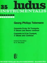 TELEMANN - Concerto D-Dur -Trompete 2 Oboen u. BC - Partition - di-arezzo.fr