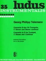 Concerto D-Dur -Trompete 2 Oboen u. BC TELEMANN laflutedepan.com