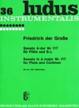 der Grosse Friedrich - Sonate Nr. 117 A-Dur – Flöte und Bc - Partition - di-arezzo.fr