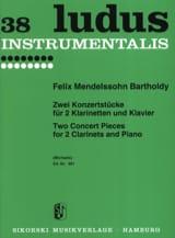 2 Konzertstücke - 2 Klarinetten und Klavier MENDELSSOHN laflutedepan