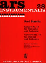 Carl Stamitz - Konzert Nr. 10 B-Dur - Klarinette Klavier - Sheet Music - di-arezzo.co.uk