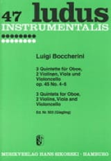 3 Quintette op. 45 Nr. 4-6 - Oboe 2 Violinen Viola Cello - Stimmen laflutedepan.com