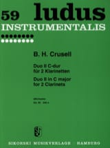 Bernhard Henrik Crusell - Duo Nr. 2 C-Dur - 2 Klarinetten - Partition - di-arezzo.fr