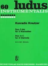 Conradin Kreutzer - Duo C-Dur - 2 Clarinets - Sheet Music - di-arezzo.com