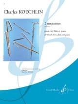 Charles Koechlin - 2 Nocturnes op. 32 bis - Sheet Music - di-arezzo.co.uk