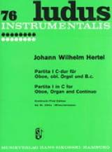 Johann Wilhelm Hertel - Partita Nr. 1 C-Dur – Oboe obl. Orgel u. Bc - Partition - di-arezzo.fr