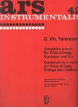 Ouvertüre e-moll für Flöte Oboe) Klavier TELEMANN laflutedepan.com