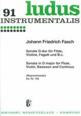 Sonate D-Dur - Flöte Violine Fagott et BC laflutedepan.com