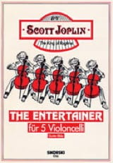 The Entertainer für 5 Violoncelli Scott Joplin laflutedepan.com
