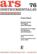 Franz Danzi - Konzert F-Dur -Fagott Klavier - Partition - di-arezzo.fr