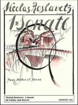 Sonate n° 1 – Violon piano Nikolai Roslawez Partition laflutedepan.com