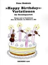 Happy Birthday-Variationen für Streichquartett laflutedepan.com
