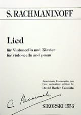 RACHMANINOV - Lied - Cello - Sheet Music - di-arezzo.com