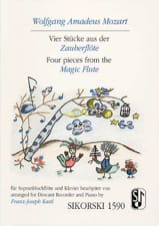 MOZART - Vier Stücke aus Der Zauberflöte - Partition - di-arezzo.fr