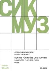 Serge Prokofiev - Sonate Opus 94 - Flöte und Klavier - Partition - di-arezzo.fr