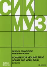 Sonate op. 115 für Violine solo Serge Prokofiev laflutedepan.com