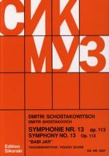 Symphonie Nr. 13, op. 113 - Partitur CHOSTAKOVITCH laflutedepan.com