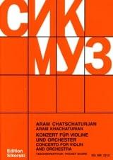 Aram Khatchaturian - Concerto pour violon - Partitur - Partition - di-arezzo.fr