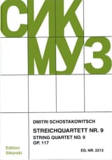 CHOSTAKOVITCH - Streichquartett Nr. 9 op. 117 - Stimmen - Sheet Music - di-arezzo.co.uk