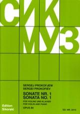 Sonate Nr. 1 op. 80 - Serge Prokofiev - Partition - laflutedepan.com
