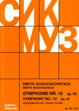 CHOSTAKOVITCH - Symphony Nr. 10 op. 93 - Partitur - Sheet Music - di-arezzo.co.uk