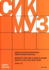 Sonate für Viola und Klavier, op. 147 CHOSTAKOVITCH laflutedepan.com