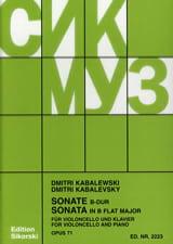 Sonate op. 71 - Dimitri Kabalevski - Partition - laflutedepan.com