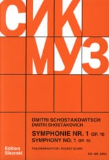 CHOSTAKOVITCH - Symphony No. 1 Op. 10 - Partitur - Sheet Music - di-arezzo.com