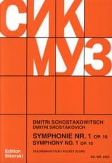 Symphonie N° 1 Op. 10 – Partitur Dmitri Chostakovitch laflutedepan.com