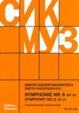 Symphonie Nr. 6 op. 54 - Partitur CHOSTAKOVITCH laflutedepan.com
