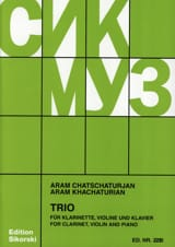 Trio pourClarinette Violon et Piano laflutedepan.com