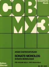 Sonate-Monolog - Aram Khatchaturian - Partition - laflutedepan.com