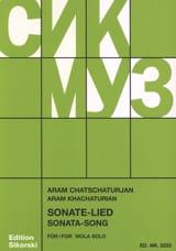 Sonate für Viola Solo Aram Khatchaturian Partition laflutedepan.com