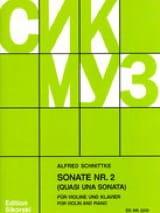 Sonata n° 2 Alfred Schnittke Partition Violon - laflutedepan.com