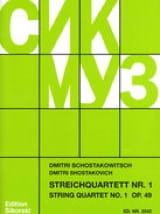 CHOSTAKOVITCH - Streichquartett Nr. 1 op. 49 - Stimmen - Sheet Music - di-arezzo.co.uk