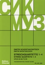 Streichquartette Nr. 1-4 - Partitur CHOSTAKOVITCH laflutedepan