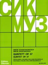 CHOSTAKOVITCH - String Quintet with Piano op. 57 - Sheet Music - di-arezzo.com